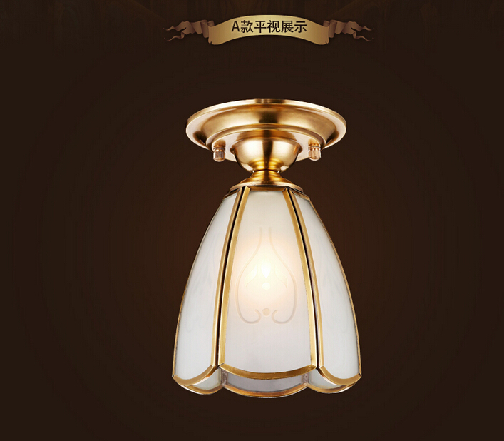 ФОТО Copper Ceiling Lamp chandelier lighting  Brass lustre fixtures free shipping SY1632 D130mm AC 100% Guaranteed