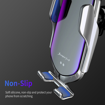 Automatic Clamping Car Wireless Charger 10W Quick Charge for Iphone 11 Pro XR XS Huawei P30 Pro Qi Infrared Sensor Phone Holder 2