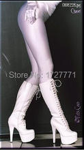 (LS59)Shiny Lycra Spandex Opaque Tights Unisex original Fetish Zentai Leggings Pants