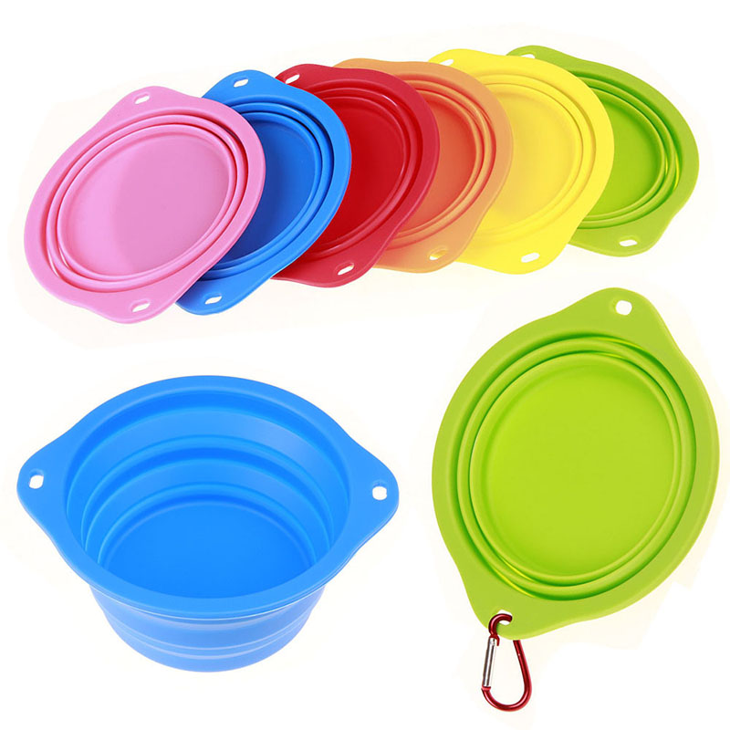 Portable Dog Pet Travel Collapsible Food Water Bowls Pets: Silicone Foldable Portable Feeding Dog Bowl Cat Pet