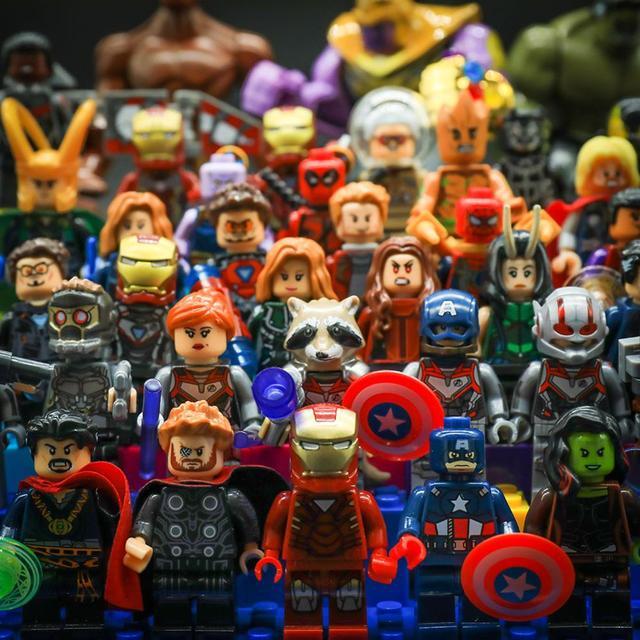 Captain America Marvel Avengers 4 Endgame Assembly Tony Stark Building Blocks Toys Figures Legoing Thanos Iron Man Toys for kids