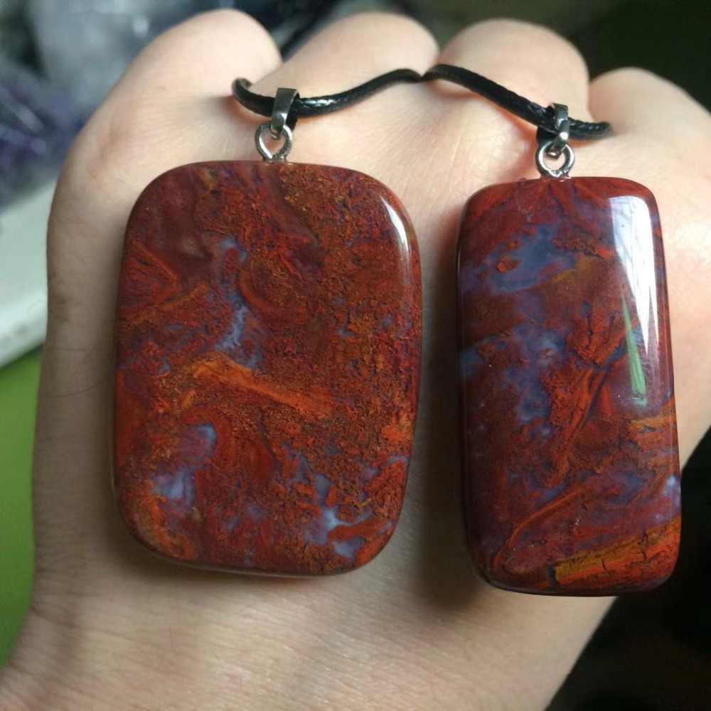 天然赤苔瑪瑙石ビーズペンダントの天然宝石の石ペンダントファインジュエリーの女性のためのギフト卸売!