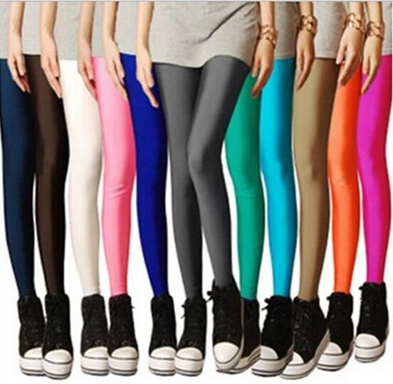 legging pant shiny fluorescence pant clothing lovely elegant modest wear women cloth free ship