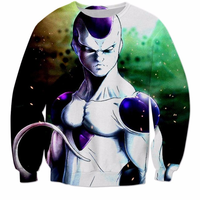 Anime Goku Themed 3D Print Pullover Sweatshirt