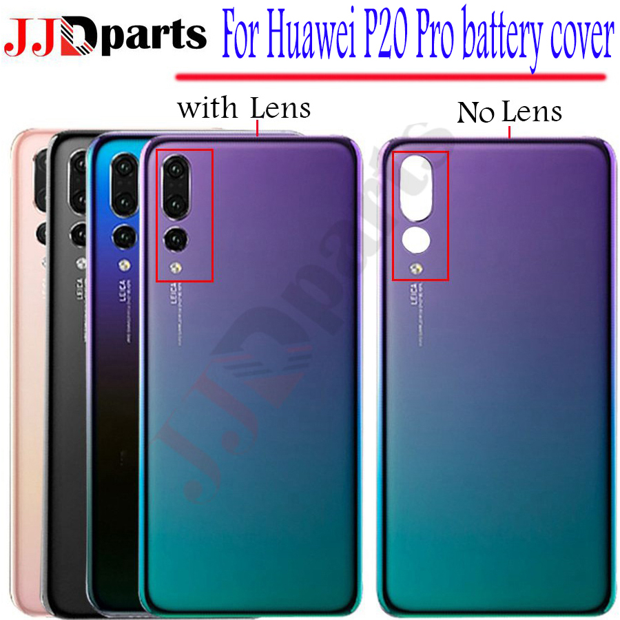 New Huawei P20 Pro Battery Cover Back Glass Rear Door Housing Case Panel For Huawei P20 Pro Back Glass Cover With Camera LensNew Huawei P20 Pro Battery Cover Back Glass Rear Door Housing Case Panel For Huawei P20 Pro Back Glass Cover With Camera Lens