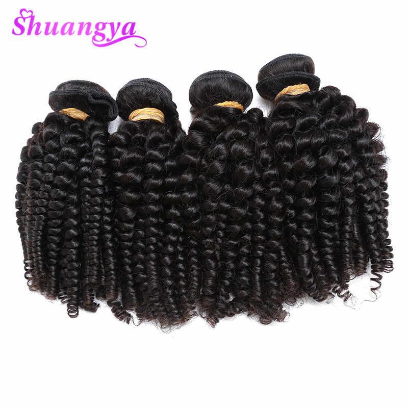 Перуанские вьющиеся человеческие волосы, 3 пряди наращивание волос Funmi Remy 100% человеческие волосы пряди могут быть окрашены и выбелены
