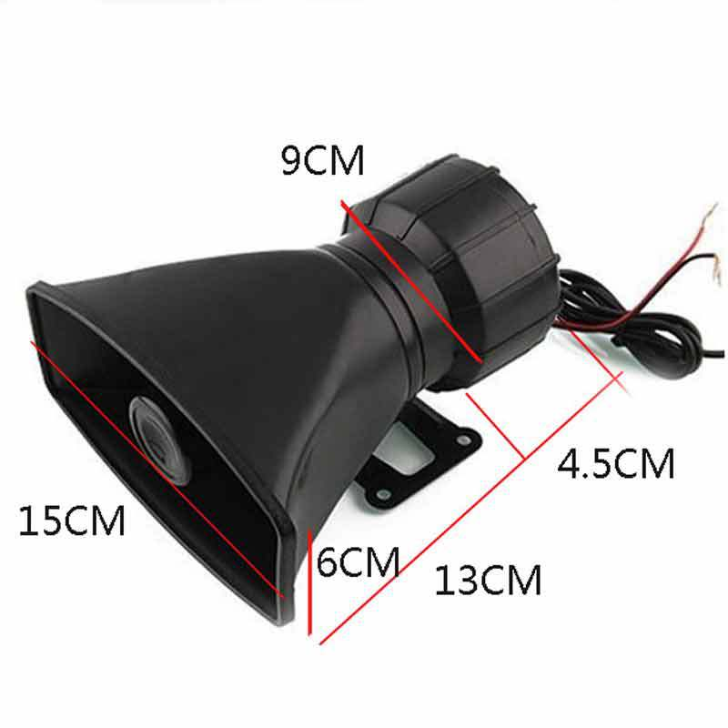 UDMJ Newest 12V Car Auto Vehicle Truck 5 Sounds Alarm Siren Horn PA Security System Speaker Car Loud Horn Siren Max Loud Alarm in Burglar Alarm from Automobiles Motorcycles