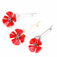 Men Women Banquet Brooch Pin Corsage Red Poppy Flower Gold Silver Black Pins Brooches Shirt Badge Brooch Fashion Jewelry Gift(China)