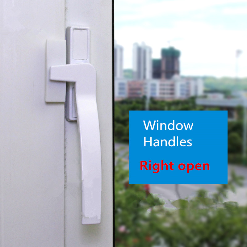UPVC White Aluminum Alloy Window Handle  Universal Door Handle Key Locking For Double Glazing White Door Turning