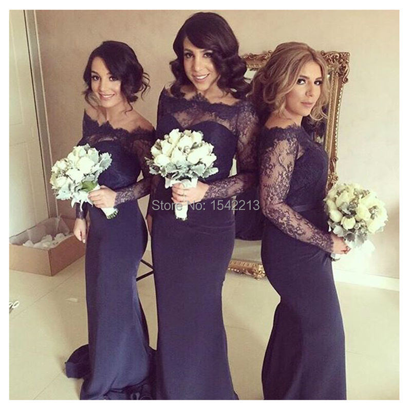 Compare Prices on Bridesmaid Long Sleeve Dress Purple- Online ...