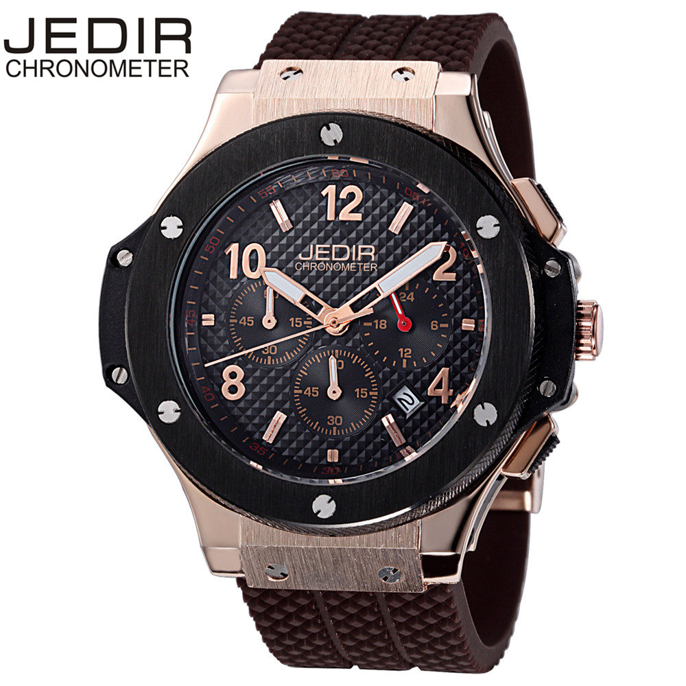 JEDIR Chronograph 6 Hands 24 Hours Function Men Military Sport Watch Silicone Mens Watches Luxury Relogio Masculino saat N25 megir mens chronograph 6 hands 24 hours function sport wrist watches luxury silicone military quartz watch man relogio masculino
