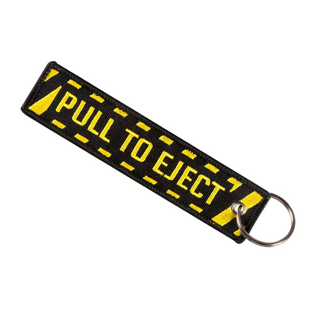 Pull To Eject Aviation  Double Sided Embroidered Key Chain 3PCS/LOT