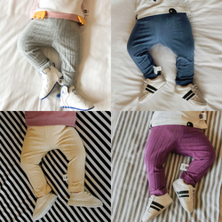 Baby pants full length boys girls covers fall fashion diaper solid trousers casual leggings filles chindren.jpg 250x250