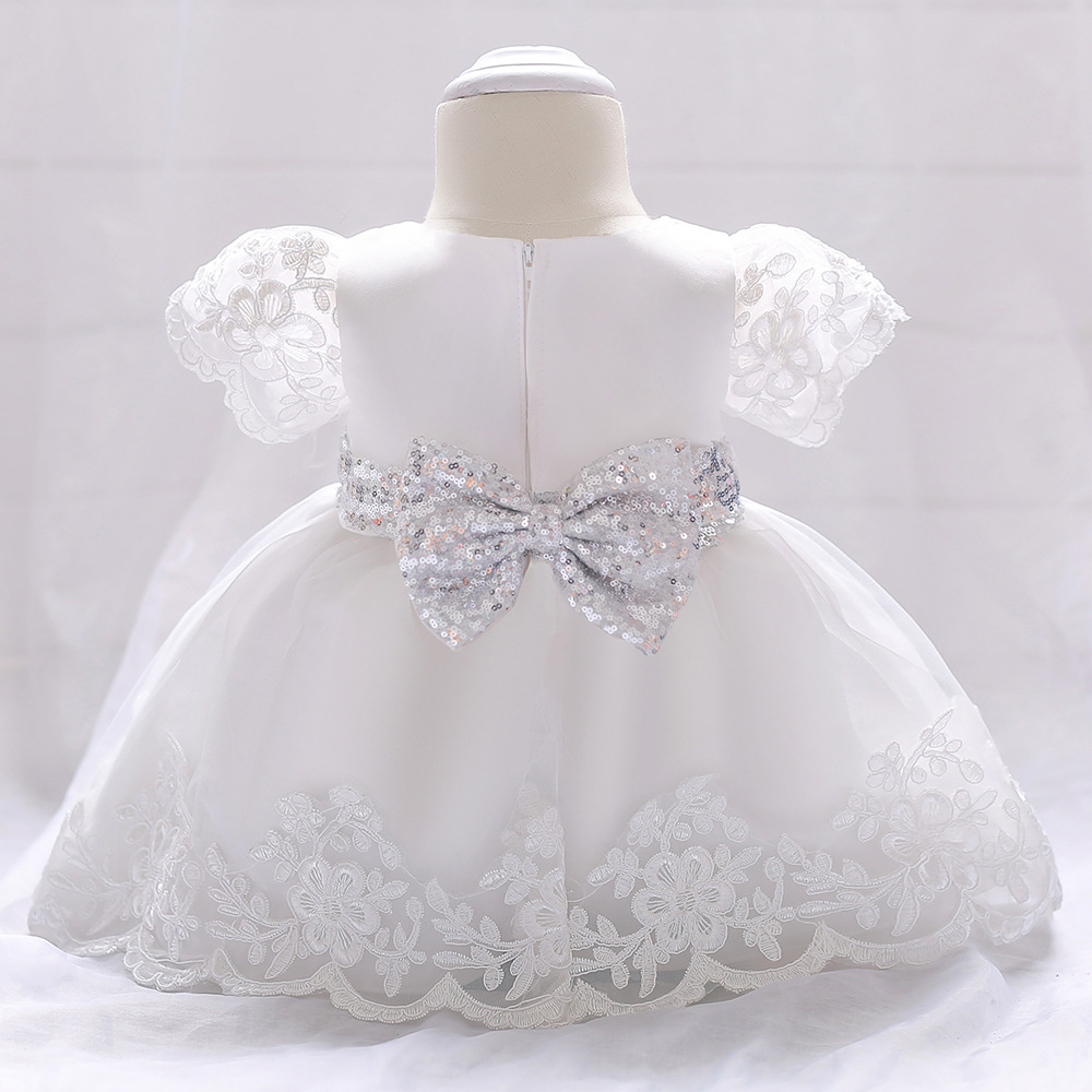 Baby Girl Dress Lace white Baptism Dresses for Girls 1st Year Birthday Party Wedding Christening Baby Infant Communion Clothing baby girl dress baptism dress for girl infant 1 year birthday dress for girls chirstening dress wholesale baby boutique clothing