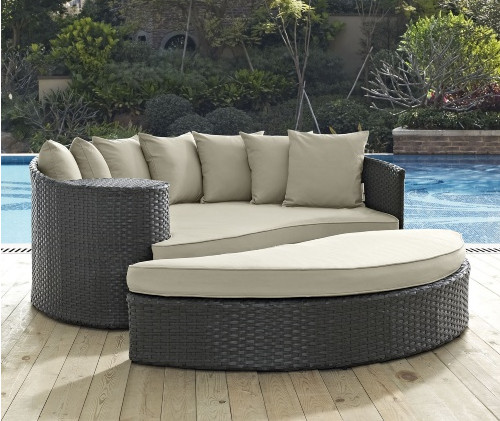 Factory Direct Sale Discount Wicker Patio Furniture 2 Piece Outdoor Daybed  Set(China)