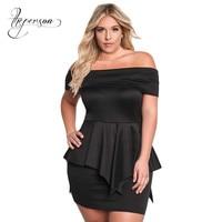 Full Dress Tube Top Short Sleeve High Waist Lotus Leaf Edge Enlarge Fertilizer Plus Size Formal Dresses