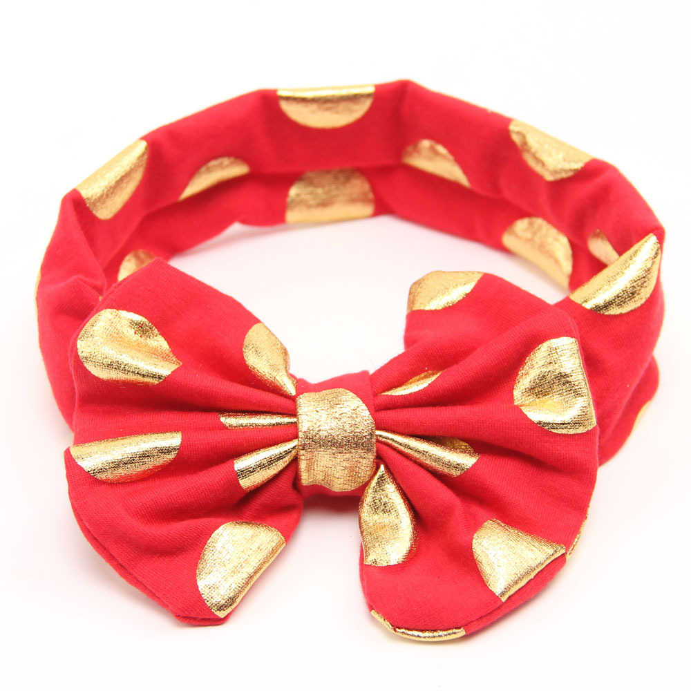 Gold Baby Headband Messy Bow Baby Head wraps Big Bow Baby Headband Head Wrap  Newborn Infant Photo Prop Hair Accessories f0ae71c261b