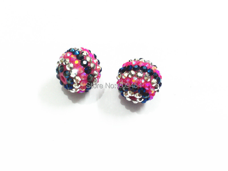 Dark Blue /silver Stripe Resin Rhinestone Ball Beads,chunky Beads For Kids Jewelry Making To Help Digest Greasy Food 20mm 100pcs/lot Hotpink Newest !