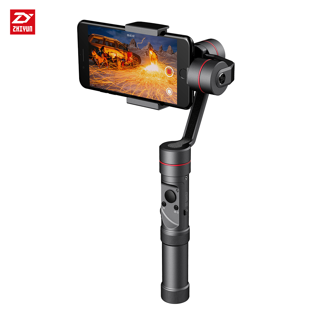 zhi yun Zhiyun Smooth 3 3-Axis Handheld Gimbal Stabilizer Camera Mount for Smartphone Gopro3/4/5 z1 smooth ii 3 axis brushless handheld gimbal stabilizer for smartphone handheld within 6 5 screen