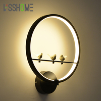 VSSHOME 18W LED Wall Lamp Bedroom Beside Lamp Creative Bird Styling Children S Room Wall