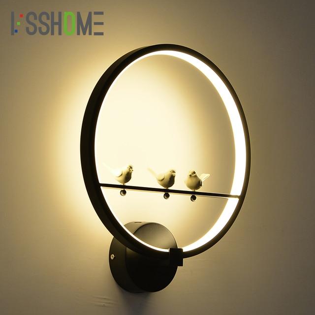 VSSHOME] 18 W LED Wandlamp Slaapkamer Naast Lamp Creatieve Vogel ...