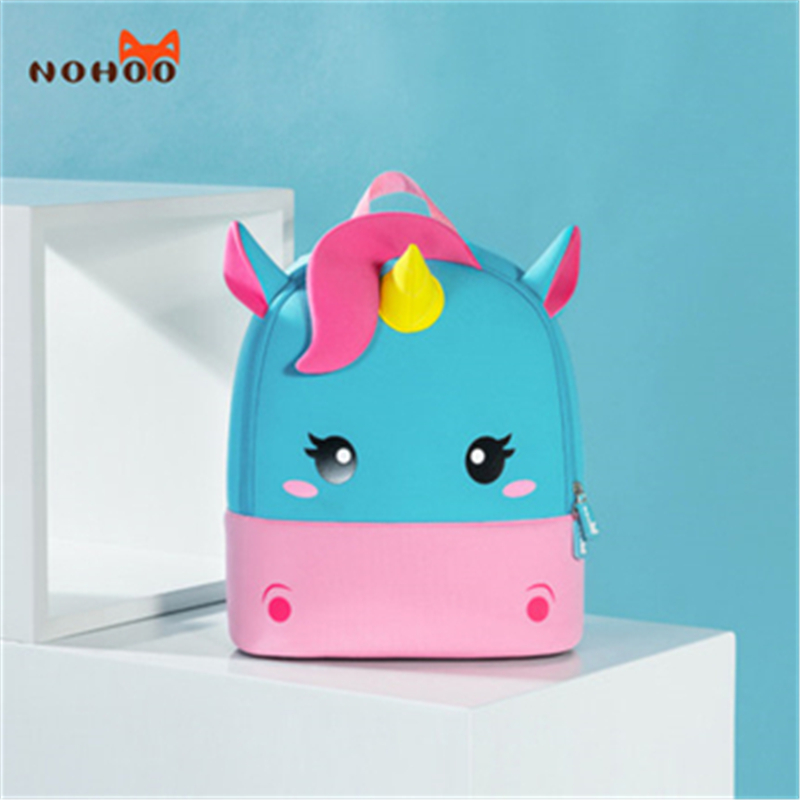NOHOO Children School Backpack Kids Bag Toddler Girl Backpack 3D Mini Unicorn Cartoon Travel Pre School Bag For Girls Boys Kids