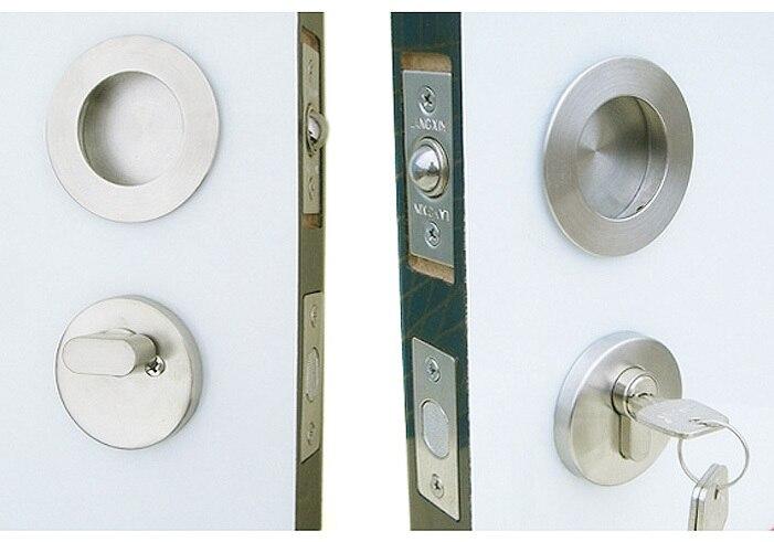 Door Hardware Stainless Steel Dark Buckle Invisible Security Lock LocksetChina Mainland
