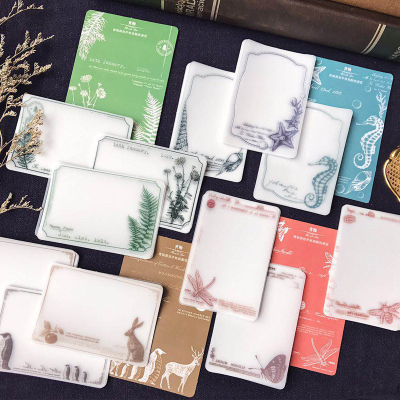1set/lot  Memo Pads Sticky Notes Green Bean Series Paper Diary Scrapbooking Stickers Office School Stationery Notepad