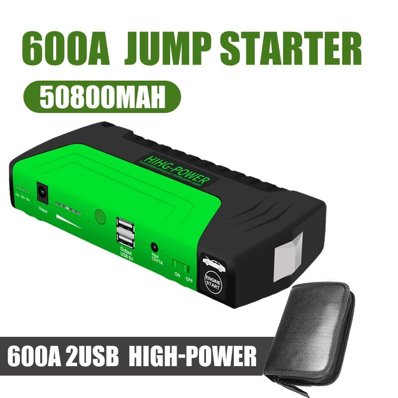 2019 puissance de démarreur de saut de voiture de secours Banbk 12 V 600A dispositif de démarrage Portable Mini chargeur de voiture pour voiture batterie Booster Buster CE