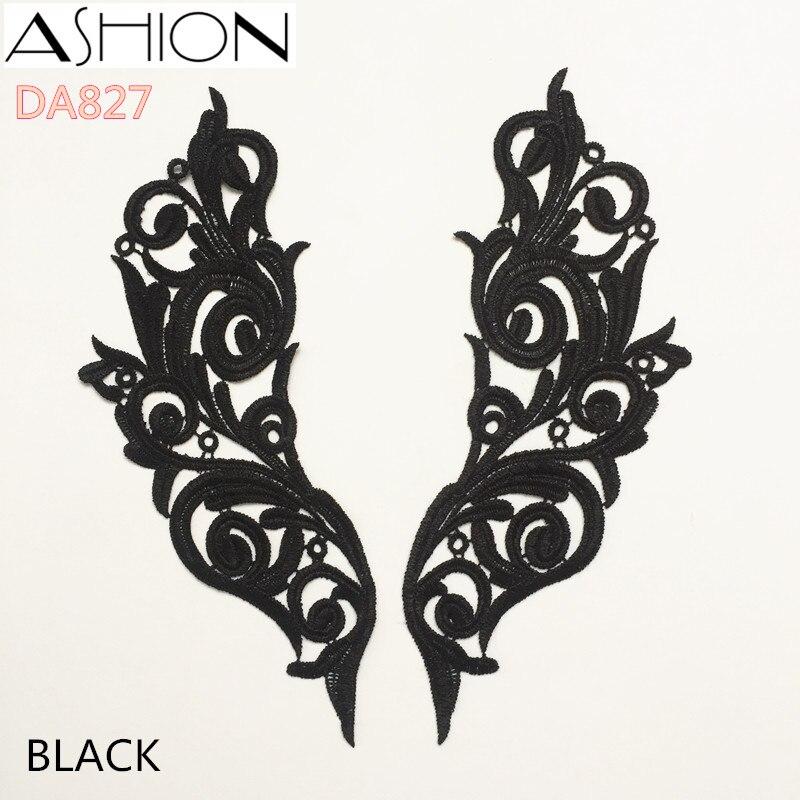 ASHION Decorative Embroidery Clothes Venise Lace Applique Wedding Dress Bridal Badge Headband Motif Patch Flower Wedding