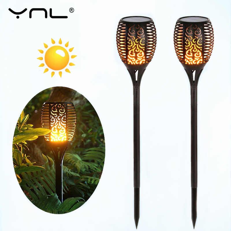 YNL светодиодный фонарь Солнечная лампа с эффектом пламени садовый свет