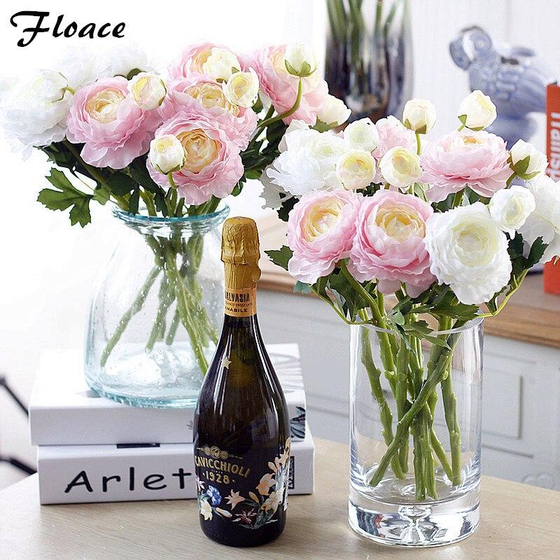 Floace mobiliario decorativo de flores de peonía flores Artificiales de seda de