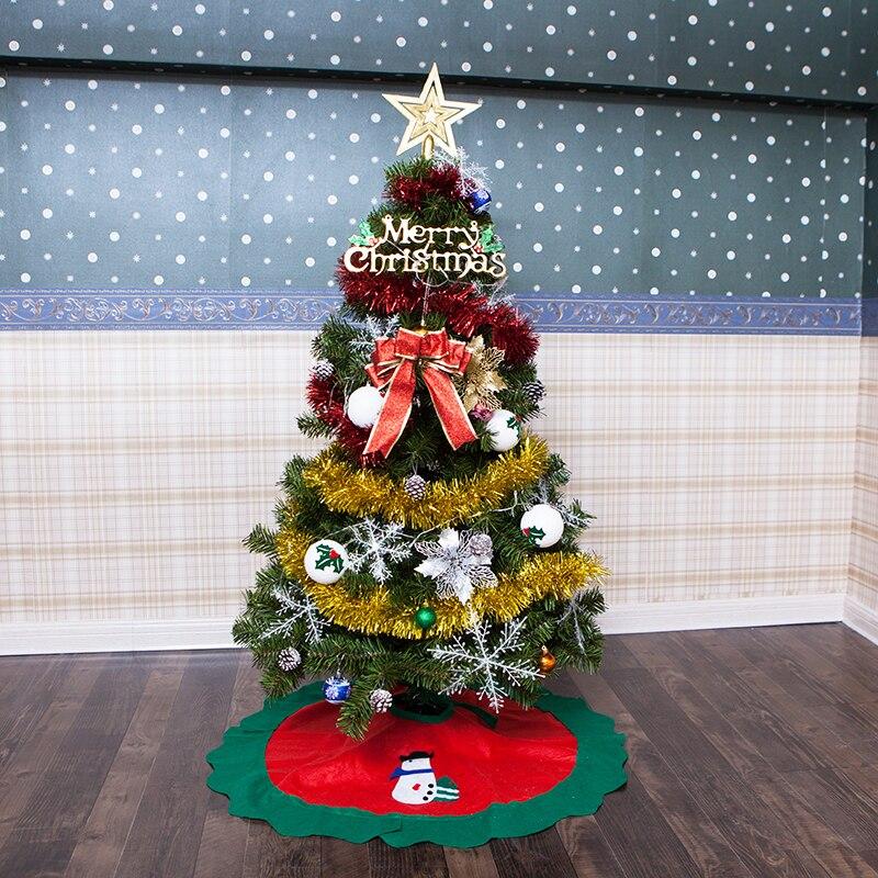Младенческой Сияющий Рождественская елка фестиваль DIY для рождественской вечеринки елка 120 см (4 фута), 150 см (5 футов) с украшения свет светоди...