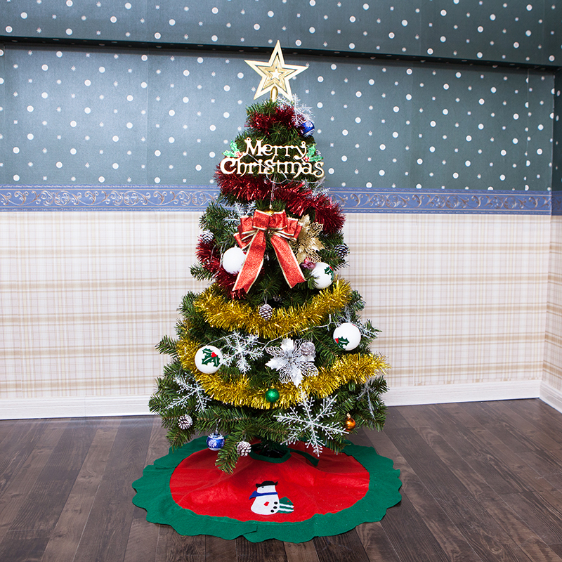 Infantile Brillante Festa Albero Di Natale FAI DA TE Festa Di Natale Albero di natale 120 cm (4 Piedi), 150 cm (5 Piedi) con Decorazioni di Luce Led