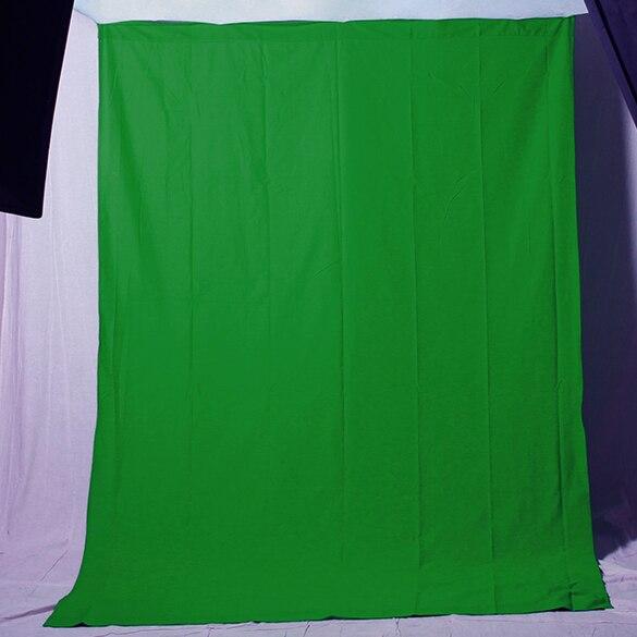 Fond de photographie en mousseline verte 6x9ft fond Chromakey pour studio photo et vidéo