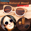 Original Natural Handmade Polarized Wood Wooden Sunglasses UV Women Sunglass Glasses Woods Frame Arm With Bamboo Case Box 2015