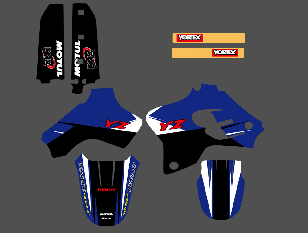 1993 1994 1995 1996 1997 1998 1999 2000 2001 YZ 80 GRAPHICS KIT YAMAHA YZ80 DECO