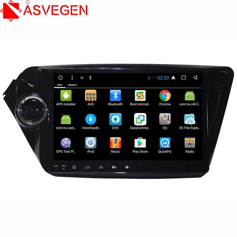 Asvegen 9 Android 6.0 Quad Core 2 Din Touch Screen Car Multimedia Radio Stereo DVD Player GPS Navigation For KIA K2 2011 2012