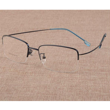 2016 New Memory Titanium Alloy Brand Glasses Frame Eyeglasses Men women Half Ultralight
