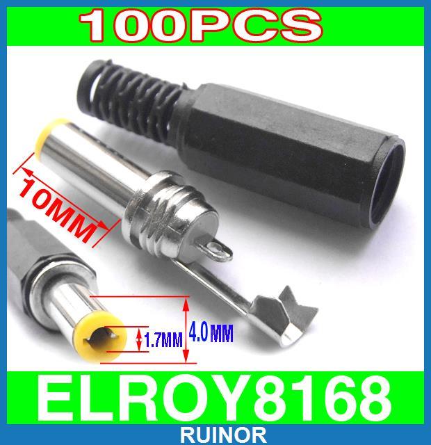 ФОТО 100pcs DIY 4mm x 1.7mm DC Power Plug Connector Cables