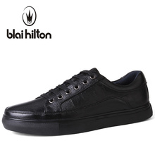 Blaibilton Brand Genuine Leather men casual shoes Luxury Flat Fashion Designer Breathable Mens Shoes Casual Male Footwear SDQ008