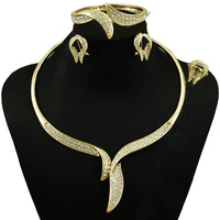 Indian Jewelry Dubai Gold Plated Jewelry Women Fashion Necklace Fine Jewelry Sets 18k Gold Jewelry Sets