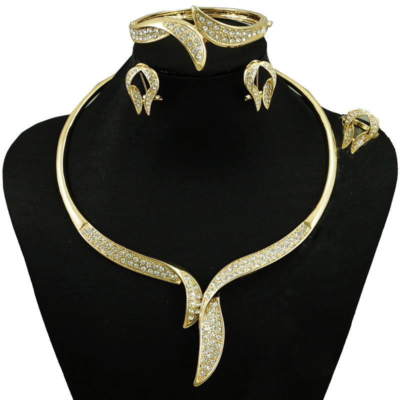 2018 India Jewelry Dubai Gold Jewelry Women Fashion: Indian Jewelry Dubai Gold Jewelry Women Fashion Necklace