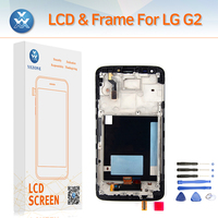 AAA LCD Replacement For LG G2 F320 D800 D802 D805 LCD Screen Touch Digitizer Frame Assembly