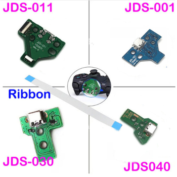 100pcs 12pin 14 pin Breathing lamp Triangular mainboard for playstation 4 PS4 wireless Dualshock controller with Ribbon Cable