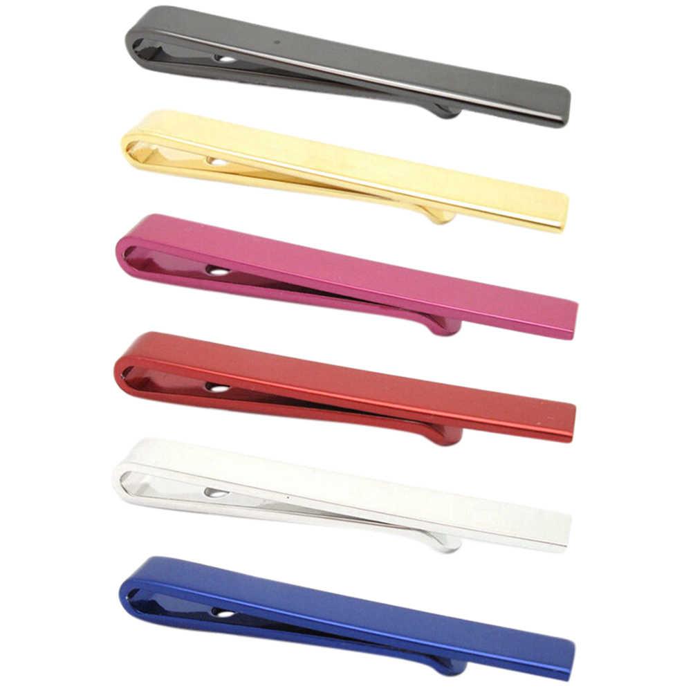 1 個ピン男の子ネクタイネクタイシンプルなネクタイネクタイステンレス鋼クラスプクリップバッグのアクセサリー用の 4*0.5 センチメートル