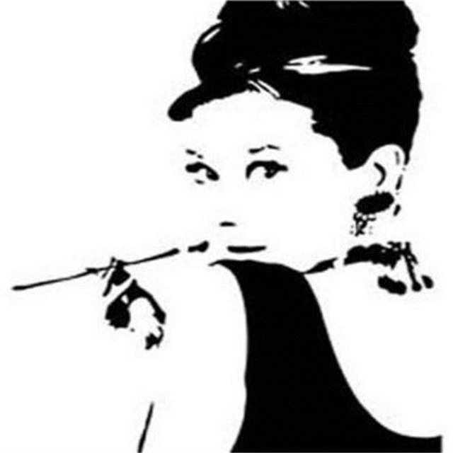 Marvelous % Audrey Hepburn Wall Stickers Living Room Patterns Wall Decals Bedroom  Home Decorations Diy Hot Selling Wall Art Living Ro In Wall Stickers From  Home ...