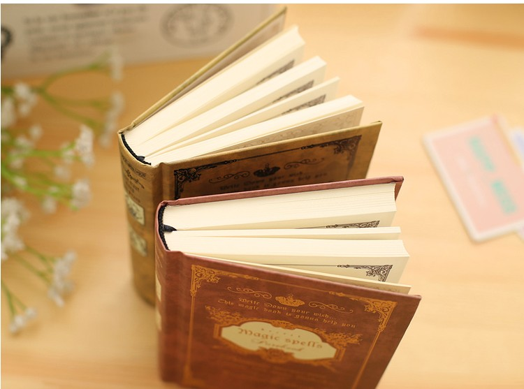 64K Small Pocket Vintage Notebook Handcover Magic Spells Pockets Book Planner Journal Traveler Notepad in Notebooks from Office School Supplies