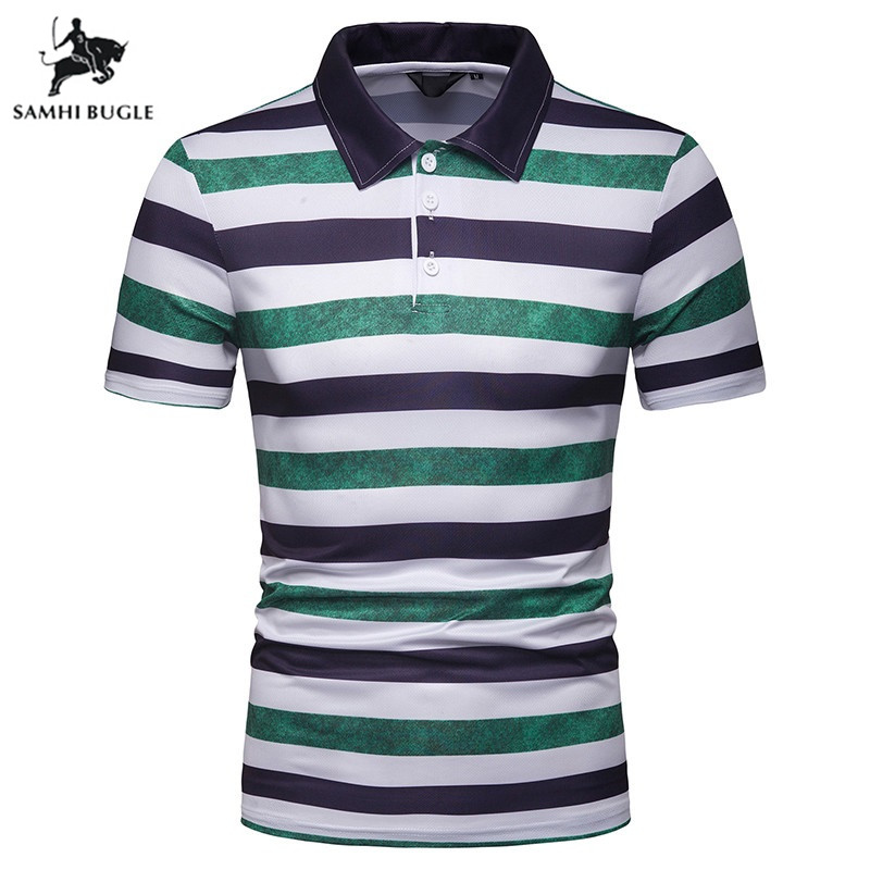 2019 New   polo   shirt men brand clothing Summer breathable   polo   shirts cotton fashion striped men   polo   shirt camisa masculino