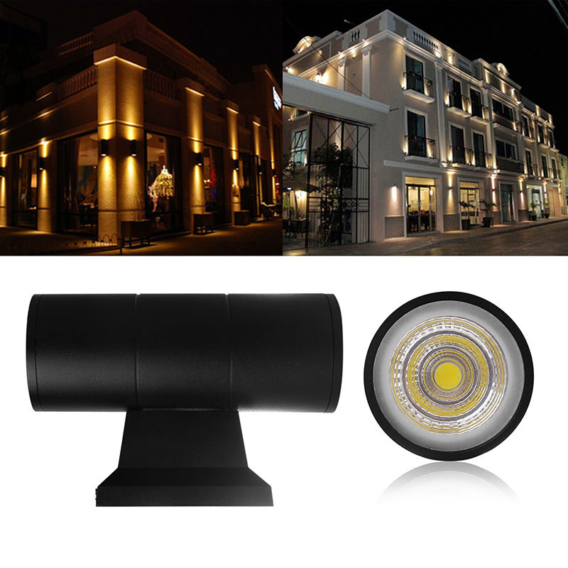 Up down dual head outdoor lighting wall lamps cylinder cob 6w 10w up down dual head outdoor lighting wall lamps cylinder cob 6w 10w led wall light ip65 waterproof porch lights ac 85 265v in led outdoor wall lamps from aloadofball Image collections